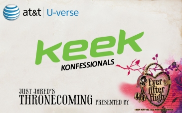 Keek Konfessionals at Just Jared's Thronecoming by Ever After High