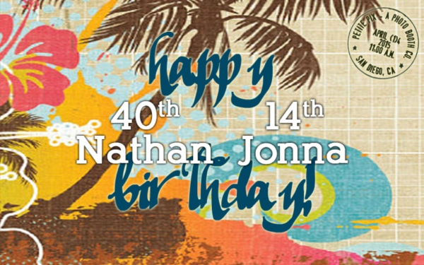 Nathan and Jonna's Birthday at Balboa Park Club, San Diego