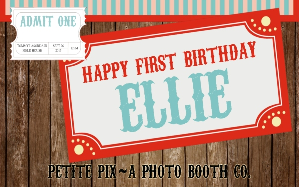 Petite Pix Hashtag Printer Photo Booth at Thomas Lasorda Jr Field House for Ellie's 1st Birthday