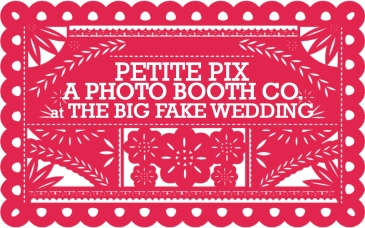 Petite Pix Studio Modern Photo Booth at the Big Fake Wedding San Diego at the Moniker Warehouse
