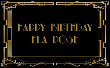 Petite Pix Vintage Portrait Booth for Ela Rose's Great Gatsby Birthday Party #ElaRoseBirthday