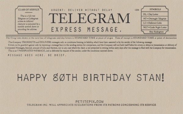 Petite Pix Vintage Photo Booth at Studio 11 for Stan's 80th Birthday