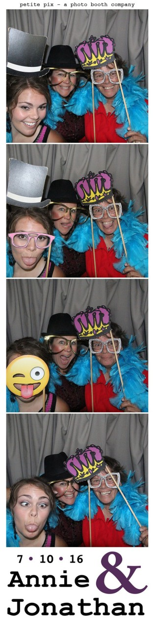 Petite Pix Classic Photo Booth at the Cicada Club in Downtown Los Angeles for Annie and Jonathan's Wedding 1