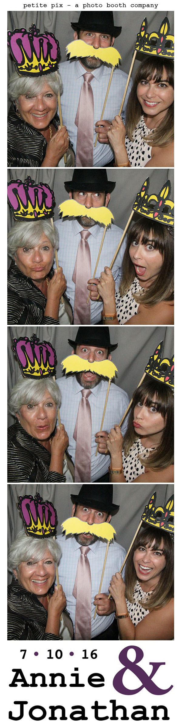 Petite Pix Classic Photo Booth at the Cicada Club in Downtown Los Angeles for Annie and Jonathan's Wedding 15