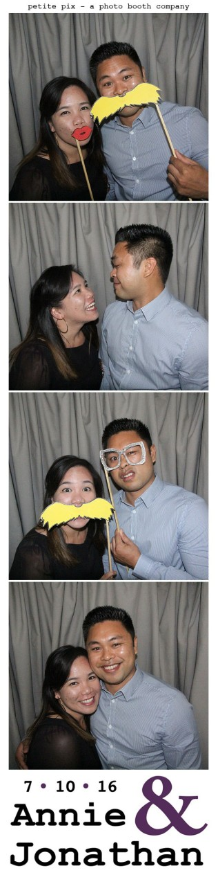 Petite Pix Classic Photo Booth at the Cicada Club in Downtown Los Angeles for Annie and Jonathan's Wedding 2