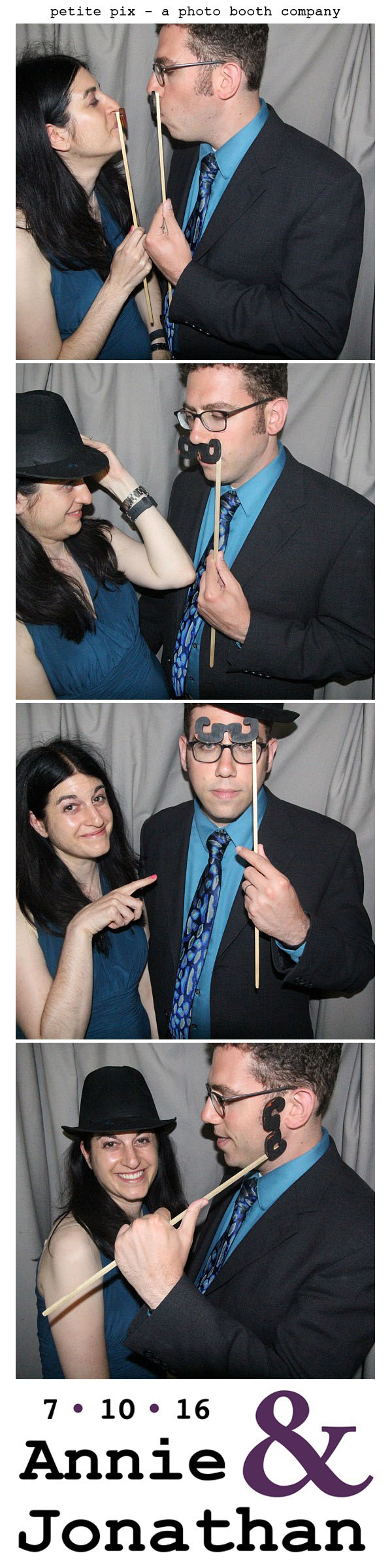 Petite Pix Classic Photo Booth at the Cicada Club in Downtown Los Angeles for Annie and Jonathan's Wedding 48