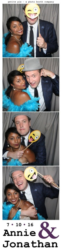 Petite Pix Classic Photo Booth at the Cicada Club in Downtown Los Angeles for Annie and Jonathan's Wedding 6