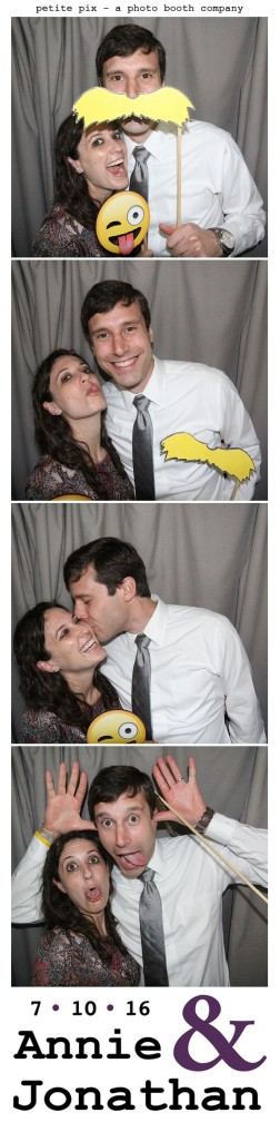 Petite Pix Classic Photo Booth at the Cicada Club in Downtown Los Angeles for Annie and Jonathan's Wedding 9